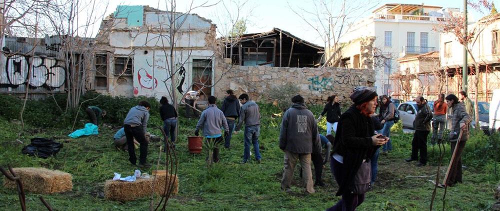 Ο αυτοδιαχειριζόμενος κοινοτικός κήπος. 29/03/2012 Τοποθεσία: κενός χώρος στην οδό Αγίων Ασωμάτων-Ψυρρή.