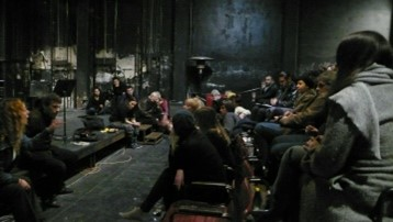 Figure 3. Assembly gathering in the main theater space. Photograph by Eleni Tzirzilaki.
